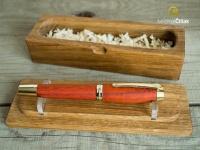 Dubová masivní krabička - slouží také jako stojánek na pero